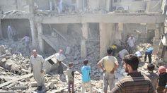दाइश के नाम पर अमरीका ने सीरिया के अलमयादीन के एक स्कूल में शर्णार्थीयोँ पर किया हमला