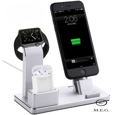 phone accessories 4 in 1 Charging Stand Aluminum Alloy Multifunctional Charging Docks Holder for Apple Watch AirPods iPhone iPad (Silver) Phone Charger, Phone Stand, Lifehacks, Whatsapp Pink, Bluetooth, Ipad, Walpaper Black, Apple Watch Iphone, Docking Station