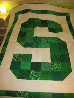 Michigan State Quilt! Go Green!