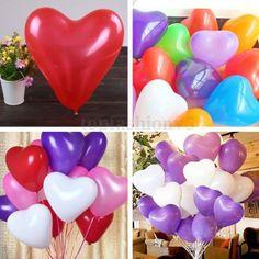 100pz-Cuore-Palloncini-Decorazioni-Feste-Compleanno-Matrimonio-Misti-Colori-12
