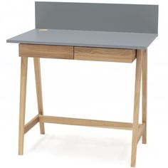 Luka Writing Desk 110cm Ragaba • WOO .Design Office Desk, Home Office, Wooden Drawers, Study Space, Cable Management, Writing Desk, Foot Rest, Entryway Tables, Design
