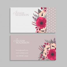 Free Business Cards, Business Card Design, Creative Business, Visual Identity, Personal Identity, Identity Branding, Lany, Name Card Design, Vector Flowers
