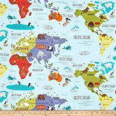 Hello World - World Map in Sky