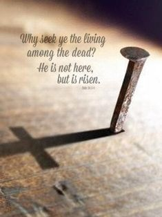 """""""Why seek ye the living among the dead? He is not here, but is risen."""" - Luke 24:5-6 