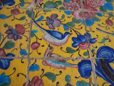 detail, external tiled walls, Golestan Palace, Tehran
