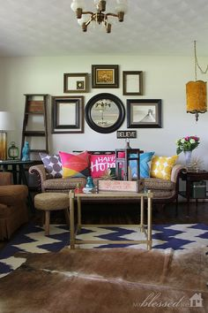 Accessorize your living room with color.