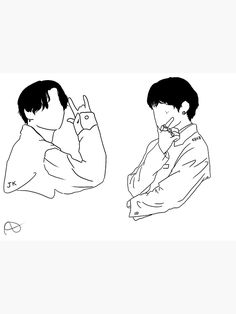 'boy with love taekook' Sticker by fromcloudsv Kpop Drawings, Art Drawings Sketches, Tattoo Drawings, Bts Tattoos, Minimalist Drawing, Boy Drawing, Outline Drawings, Bts Chibi, Embroidery Art