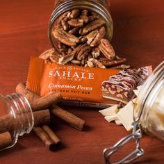 Vibrant cinnamon, crunchy pecans, and creamy white chocolate will make you love snack time again.