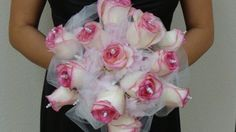 Pink & White wedding flowers from A Flower Hutt - Event And Wedding florist