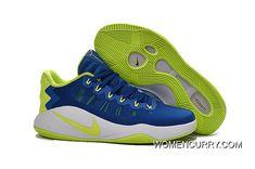 ac8bd236172de7 Nike Hyperdunk Low Royal Blue Green White Men s Basketball Shoes New Style