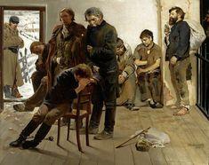 """Jacek Malczewski 🇵🇱🎨 """"Na etapie"""" (Aresztanci), 1883 Rembrandt, Capital City, Kos, Poland, Art Nouveau, Asia, Fine Art, History, Illustration"""
