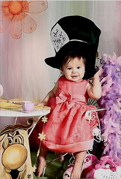 Little Mad Hatter. Alice Tea Party, Minnie Mouse, Wonderland, Mad, Disney Characters