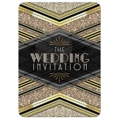 Art Deco Wedding Inv