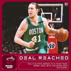 """@nbatv on Instagram: """"REPORTS: Kelly Olynyk agrees to a four-year, $50M-plus deal with the Miami Heat (via ESPN).…"""""""