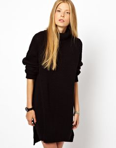 Monki Textured Knitted Jumper Dress - Now on http://ootdmagazine.com/store/product/monki-textured-knitted-jumper-dress/ #fashion