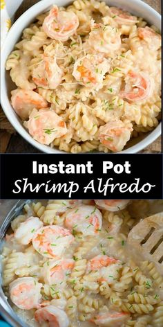 Delicious and healthy family choice special food and drink Instant Pot Shrimp Alfredo Instant Pot shrimp alfredo pasta is so good and easy to make for your family! If you love seafood you'll love how easy it is made in your pressure cooker. Instant Pot Pasta Recipe, Instant Pot Dinner Recipes, Easy Healthy Recipes, Easy Meals, Vegan Recipes, Healthy Food, Cooking Recipes, Curry, Kitchens