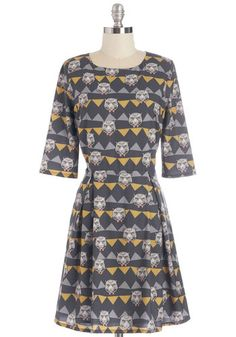Jessica, I'm positive you need this. I have no clue how uk sizes run though. Tiger Eyes for You Dress. You stay true to your quirky sense of style while sporting this adorable A-line from Sugarhill Boutique. #gold #prom #modcloth