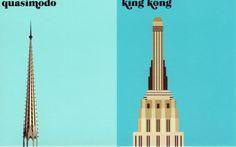 """la créature"" Quasimodo vs King Kong Paris Vs New York by Vahram Muratyan"