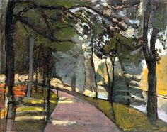 Path in the Bois de Boulogne - Matisse, Henri (Nationality, 1869 - Fine Art Reproductions, Oil Painting Reproductions - Art for Sale at Galerie Dada Henri Matisse, Matisse Kunst, Matisse Art, Matisse Paintings, Great Paintings, Landscape Art, Landscape Paintings, Post Impressionism, Renoir