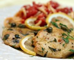 Chicken Piccata (or Veal Piccata) is one of those staple dinner recipes that I like to make for a dinner party. It's simple and delicious.