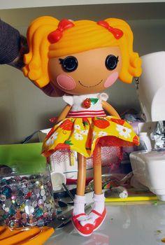 Lalaloopsy Sunny Ladybug Party Dress by PeppermintPiglets on Etsy, $7.50