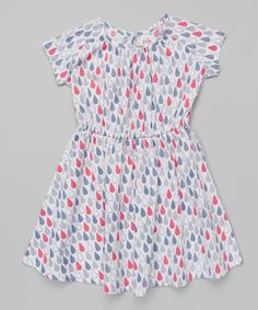 Love this Pink & Blue Raindrop Cap-Sleeve Dress - Infant, Toddler & Girls by nktoo by Nohi Kids on #zulily! #zulilyfinds