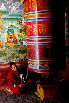 "The Buddhist Prayer Wheel -""Life Chakra"""