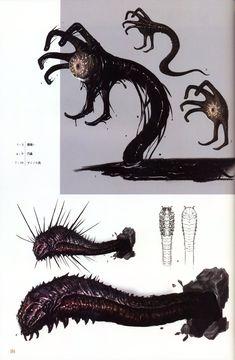 Monster Concept Art, Alien Concept Art, Creature Concept Art, Fantasy Monster, Monster Art, Creature Design, Dark Creatures, Mythical Creatures Art, Arte Horror