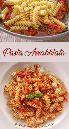 Arabiata sos - Kuvarancije Pasta Arrabbiata, Best Food Ever, Pasta Salad, Shrimp, Spaghetti, Meat, Ethnic Recipes, Crab Pasta Salad, Noodle