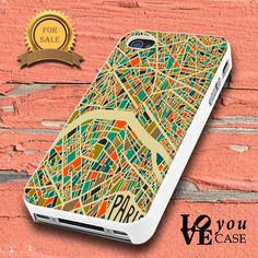 Paris City Map  for iphone, ipod, samsung galaxy, HTC and Nexus PHONE CASE