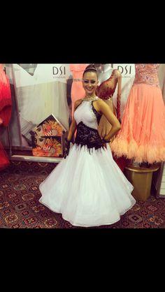 Black White ballroom dress