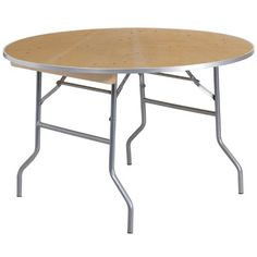 Flash Furniture Round Heavy Duty Birchwood Folding Banquet Table with Metal Edges 48Inch * More info could be found at the image url.Note:It is affiliate link to Amazon.