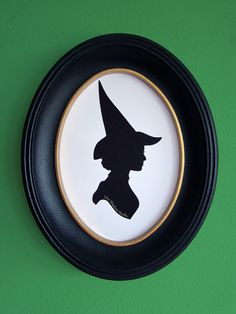 Elphaba Thropp the Witch from Wicked Hand-Cut Paper Silhouette by TheShadowStudio on Etsy