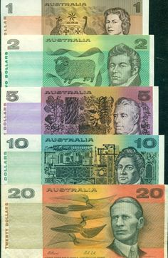 Australian currency when we still had paper notes
