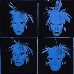"""Andy Warhol (Andrew Warhola, 1928, Pittsburgh - 1987, New York), """"Autoritratto"""" / """"Self-Portrait"""", 1986, Synthetic polymer and silkscreen ink on linen, Williams College Museum of Art, Williamstown, Mass."""