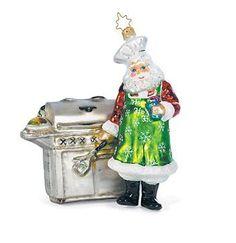 """Grilling Santa Christmas Ornament"" by Christopher Radko"