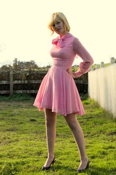 Short skirt <3 long sleeves <3 pink!