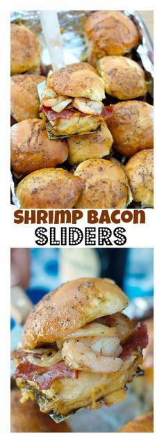 Shrimp Bacon Sliders | ReluctantEntertai... for Father's Day, Memorial Day, Fourth of July