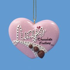 I Love Lucy Flashing Chocolate Factory Heart Christmas Ornament, $9.95