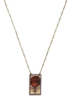 Just as Imagined Necklace in Balloon. Your style is the conglomeration of many daydreams-turned-reality, and this pendant necklace is the latest to top your knit dress and long cardigan! #multi #modcloth
