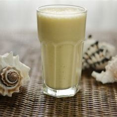Paleo Pina Colada Smoothie - equal parts coconut milk and frozen pineapple.