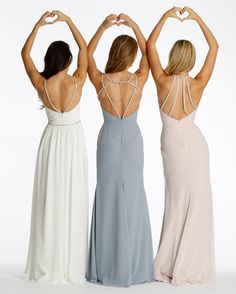 Back shot ofHayley Paige Bridesmaids styles 5623, 5626, 5624