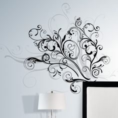 Add a beautiful, elegant accent to a boring, drab wall with the Forever Twined Peel and Stick Giant Wall Decal . This gorgeous wall decal features. Wall Stickers, Wall Decals, Wall Art, Wallpaper Stickers, Wall Canvas, Unique Wall Decor, As You Like, Swirls, A Table
