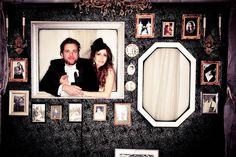 wedding photo wall, put yourself in the picture, cute alternative to the photo booth, the lodge at sonoma