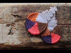 como hacer aros macrame cavandolli multicolor - YouTube