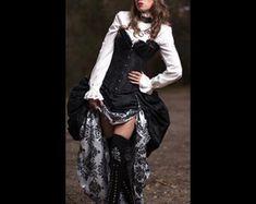 3 pc corsetto Steampunk con doppia trambusto di MajesticVelvets