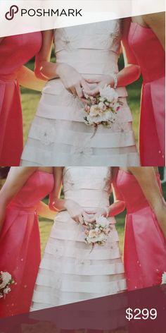 Wedding dress Adorable summer, spring, fall wedding dress, married at courthouse, rehearsal dinner dress etc David's Bridal Dresses Wedding