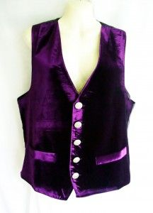 Purple velvet waistcoat with black satin back and ornate silver buttons £45.00 http://gothic.dresstobedifferent.com/store/products/category/male-clothing/