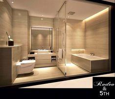Armani Hotel bathroom (Wallpaper is nice idea for home bathroom) Bathroom Spa, Bathroom Interior, Bathroom Ideas, Bathroom Lighting, White Bathroom, Bathroom Cabinets, Remodel Bathroom, Bathroom Colors, Bathroom Mirrors