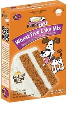 Puppy Cake Wheat-Free Peanut Butter Cake Mix and Frosting. cake mix for dogs. Puppy Cake, Doggie Cake, Box Cake Mix, Cake Mixes, Peanut Butter Frosting, Dog Diet, Dog Cakes, Thing 1, Puppy Party